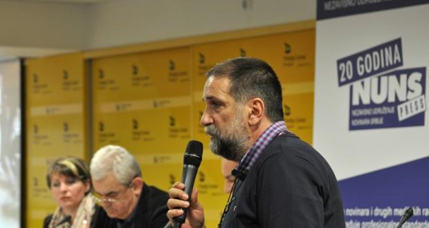 Vukašin Obradović, predsednik Nezavisnog udruženja novinara Srbije/Foto: mc.rs